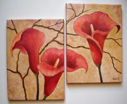 Picturi cu flori Tablou decor cu cale -