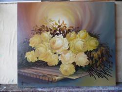 Picturi cu flori trandafi in lumina divi