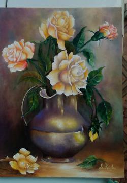 Picturi cu flori trandafiri imerial-panz