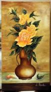 Picturi cu flori Trandafiri orange (ofer
