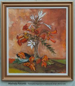 Picturi cu flori Trompeta ingerului si c