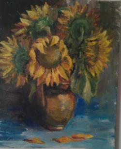 Picturi cu flori Ulcică cu floarea soar