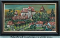 Picturi cu peisaje Biserica fortificata