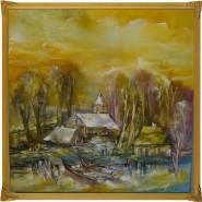 Picturi cu peisaje Biserica in delta-ule