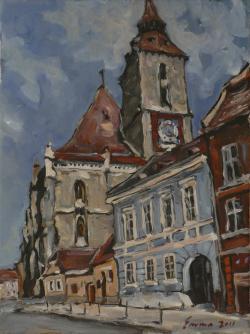 Picturi cu peisaje Brasov, Biserica Neag