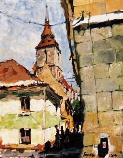 Picturi cu peisaje Brasov, vedere spre B