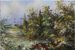 Picturi cu peisaje Camp cu maci 2 miniat