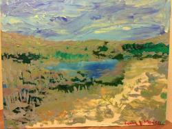 Picturi cu peisaje Delta Dunarii - stufa