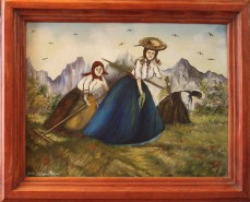Picturi cu peisaje Fetele la adunat de i
