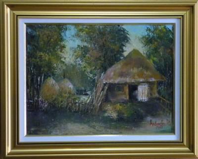 Picturi cu peisaje GOSPODARIE IN AMURG