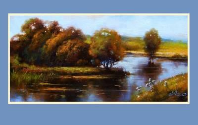 Picturi cu peisaje lacul sinoe 2