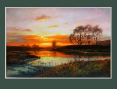 Picturi cu peisaje lumina deltei