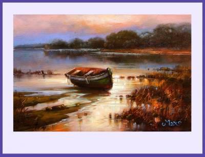 Picturi cu peisaje luminile deltei 3