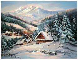 Picturi cu peisaje PE UN DALB PICIOR DE