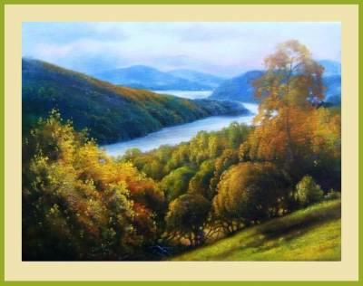 Picturi cu peisaje Pe valea oltului