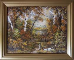 Picturi cu peisaje Peisaj cu rama (La of