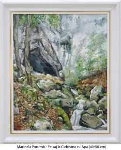 Picturi cu peisaje Peisaj la Ciclovina c