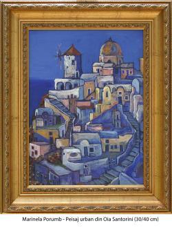 Picturi cu peisaje Peisaj urban din Oia