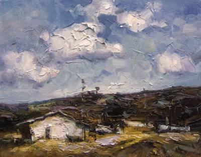 Picturi cu peisaje Peissaj la gurile dob