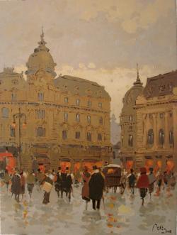 Picturi cu peisaje Prin vechiul Bucurest