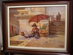 Picturi cu peisaje Vanzatorul de portoca