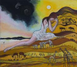 Picturi cu peisaje Zile si nopti in Afri