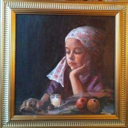 Picturi cu potrete/nuduri Așteptând Cr