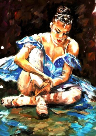 Picturi cu potrete/nuduri Balerina'