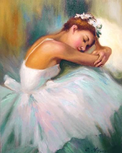 Picturi cu potrete/nuduri Balerina ilean