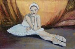 Picturi cu potrete/nuduri Balerina trist