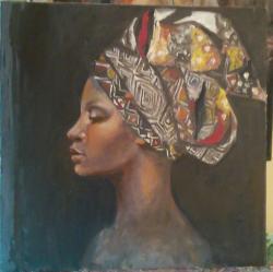 Picturi cu potrete/nuduri Culorile Afric