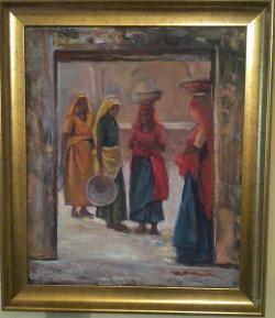 Picturi cu potrete/nuduri Curtea interio