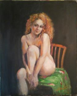 Picturi cu potrete/nuduri Cuvertura verd