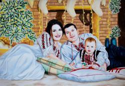 Picturi cu potrete/nuduri Familie linga