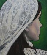 Picturi cu potrete/nuduri Fata cu val al