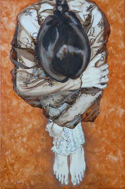 Picturi cu potrete/nuduri Fata ghemuita