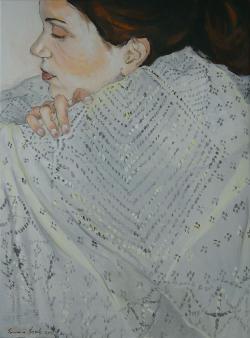 Picturi cu potrete/nuduri Fata pe gandur