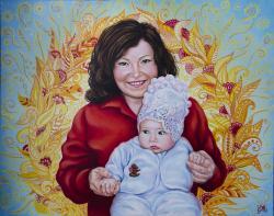 Picturi cu potrete/nuduri Fericirea feme