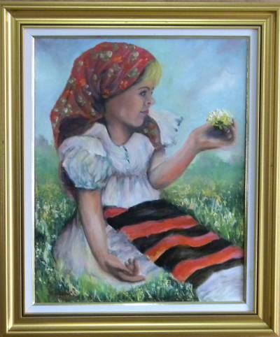 Picturi cu potrete/nuduri FETITA CU PAPA