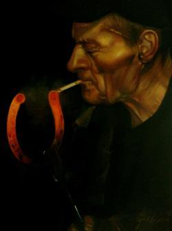 Picturi cu potrete/nuduri FIERARUL FUMAT
