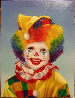 Picturi cu potrete/nuduri Inima de clown