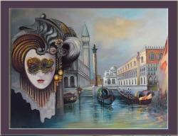 Picturi cu potrete/nuduri masca venetian