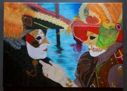 Picturi cu potrete/nuduri Masti Venetien