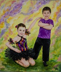 Picturi cu potrete/nuduri Micii dansator