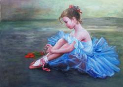 Picturi cu potrete/nuduri Micuta balerin