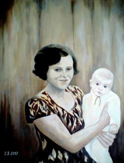 Picturi cu potrete/nuduri Odorul mamei..