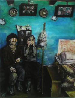 Picturi cu potrete/nuduri Old peasant co