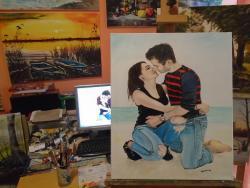 Picturi cu potrete/nuduri Portret tineri