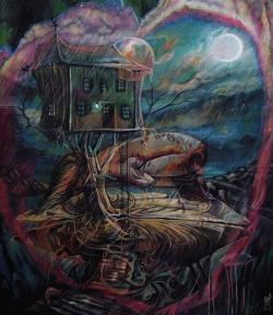 Picturi cu potrete/nuduri Prear for moon