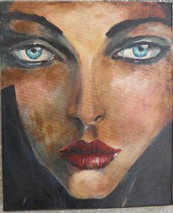 Picturi cu potrete/nuduri Privind aproap